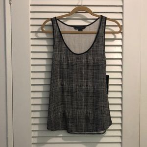 NWT French Connection b/w sleeveless graphic top 4